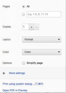 To create a PDF of your blog post or web content, Print File, then View as PDF
